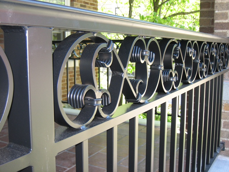 decorative aluminum railing.  Aluminum Railings Old Dutchman s Wrought Iron Inc